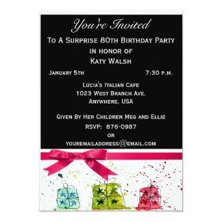 Surprise 80th Birthday Party Invitation