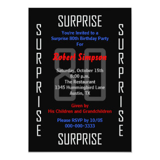 Surprise 80th Birthday Party Invitation 80