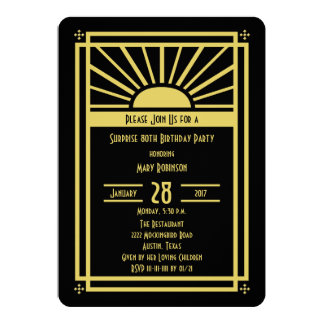 Surprise 80th Birthday Party Invitation Art Deco