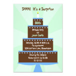 Surprise 80th Birthday Party Invitation Cake