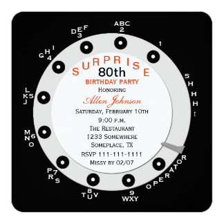 Surprise 80th Birthday Party Invitation Rotary