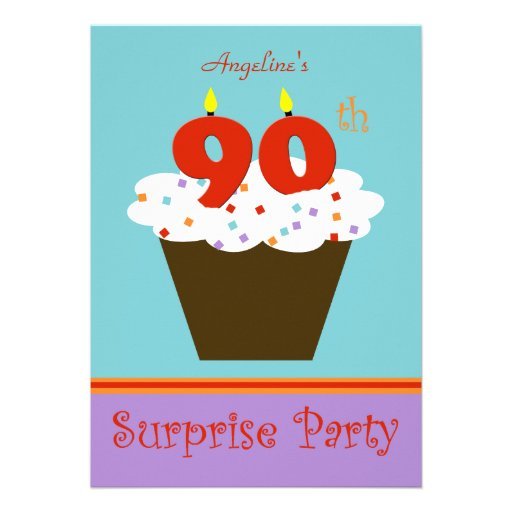 Surprise 90th Birthday Party Invitation