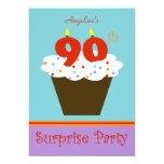 "Surprise 90th Birthday Party Invitation 5"" X 7"" Invitation Card"