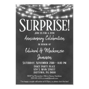 Surprise Anniversary Party Invitation Chalkboard