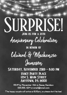 surprise anniversary invitations zazzle
