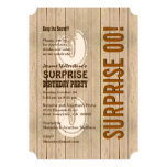 SURPRISE Any Year Birthday Distressed Wood A06A 5x7 Paper Invitation Card