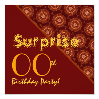 SURPRISE Any Year Birthday Gold Sienna Suns G37 Card