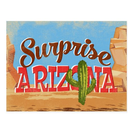 Surprise Arizona Vintage Travel Postcard
