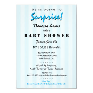 Surprise baby shower invitations zazzle surprise baby shower blue stripes invitation filmwisefo