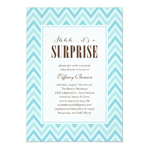 surprise baby shower invitations  zazzle, Baby shower