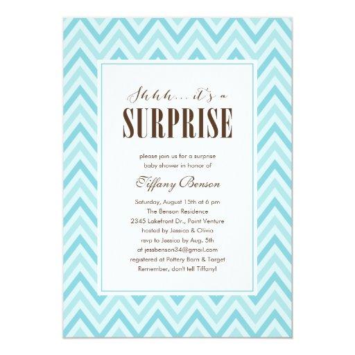 surprise baby shower invitations zazzle