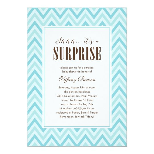 surprise baby shower invitations & announcements | zazzle, Baby shower invitations