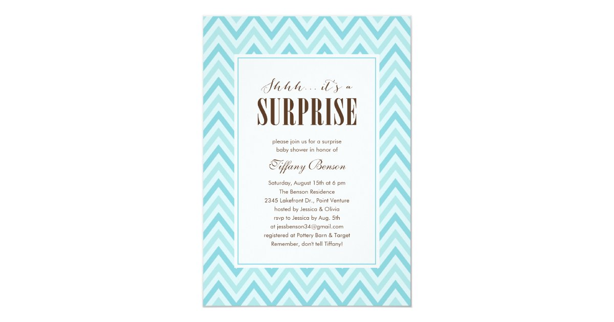 Baby Showers Supposed To Be A Surprise ~ Surprise baby shower invitations zazzle