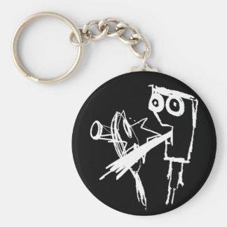 Surprise Basic Round Button Keychain