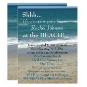 Surprise Beach Party Invitation