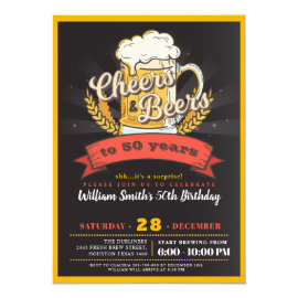 Surprise beer birthday party invitation
