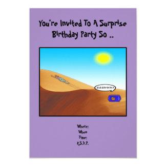 "Surprise Birthday Invitation. 5"" X 7"" Invitation Card"