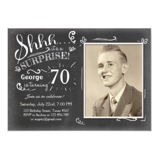 surprise 70th birthday invitations announcements zazzle. Black Bedroom Furniture Sets. Home Design Ideas