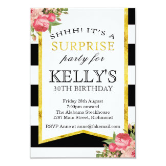 Surprise Birthday Invitation - Womens Birthday