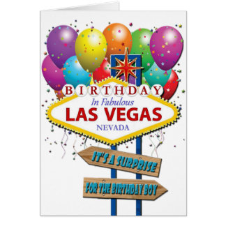 Surprise Birthday Las Vegas Card