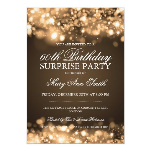 Surprise Invitation Cards as perfect invitations example