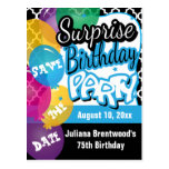 Surprise Birthday Party in Blue | Save the Date Postcard