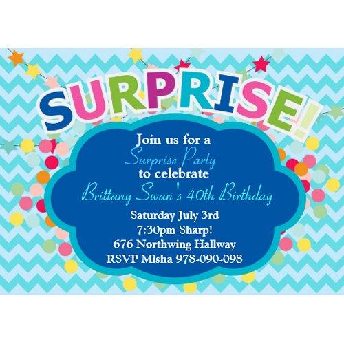 Surprise Birthday Party invitation zazzle_invitation