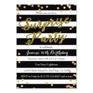 Surprise 50th birthday invitations announcements zazzle surprise birthday party invitation solutioingenieria Images