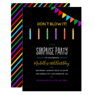Surprise Birthday Party personalized invitation