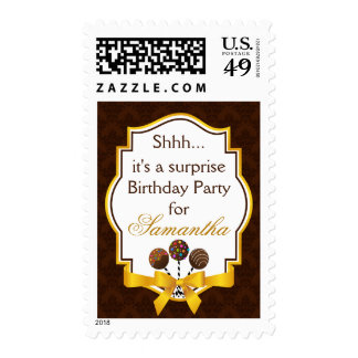 Surprise Birthday Party Postage Stamps