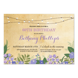 Surprise Birthday Party Rustic Floral Pink Invite