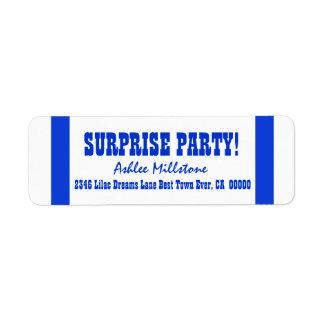SURPRISE BIRTHDAY V020 ROYAL BLUE STRIPES LABELS