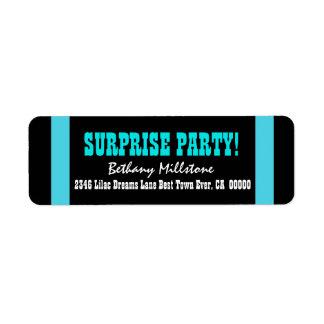SURPRISE BIRTHDAY V022 AQUA BLUE STRIPES LABELS