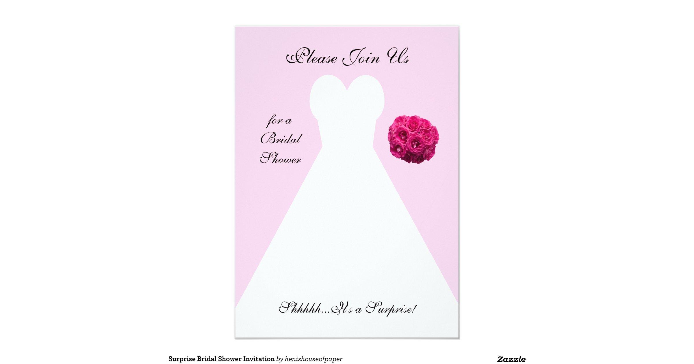 Surprise Wedding Shower Invitations - Locallygrownweddings.com