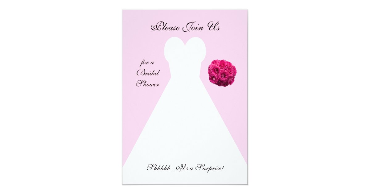 Surprise Wedding Invitation Wording: Surprise Bridal Shower Invitation