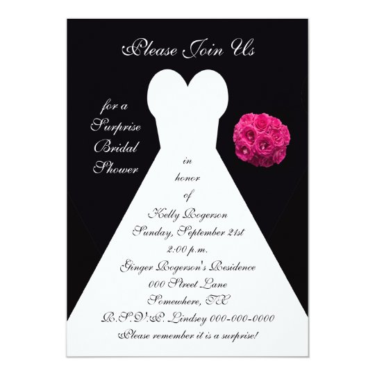 surprise bridal shower invitation