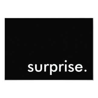 surprise. card