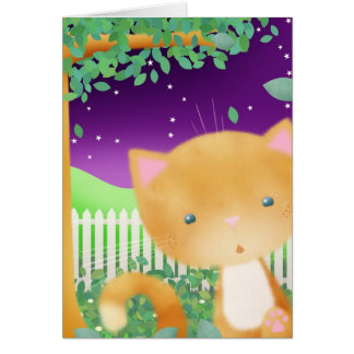 Surprise Cat - Greeting card