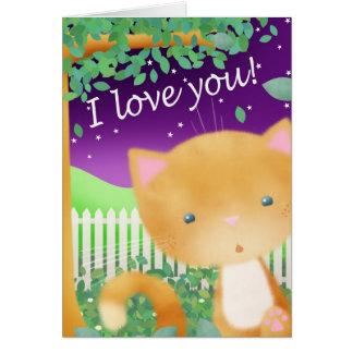 Surprise Cat -  Valentines/Love Greeting card