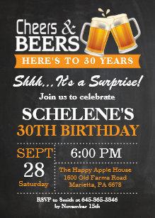 surprise 30th birthday invitations zazzle