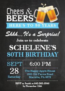 Surprise 80th Birthday Invitations Zazzle
