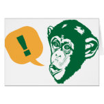 Surprise Chimp Greeting Card
