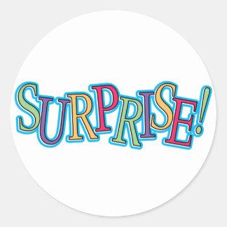 Surprise! Classic Round Sticker