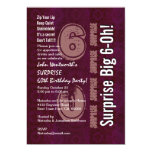 Surprise Custom Year Birthday Vintage Wine Personalized Invitation