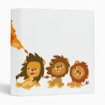 """Surprise!!"" Cute Cartoon Lions Avery Binder"