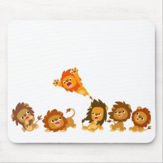 """""""Surprise!!"""" Cute Cartoon Lions Mousepad"""