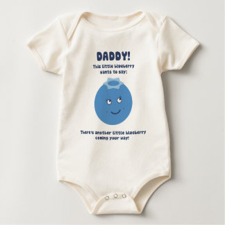 Surprise Daddy! Expecting new baby (blueberry)! Baby Bodysuit