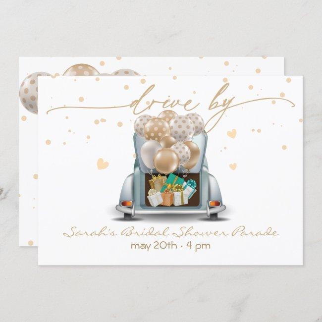 Surprise Drive Through Bridal Shower Parade 2 Invitation