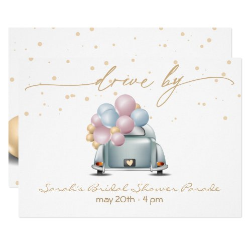 Surprise Drive Through Bridal Shower Parade Invitation