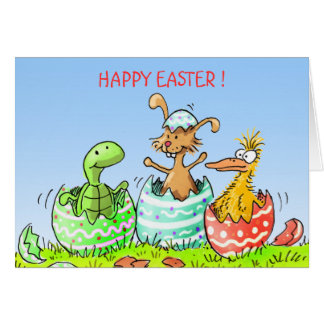surprise  eastercard greeting card